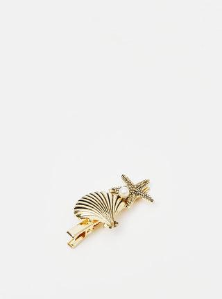 Sponka v zlatej farbe Pieces Nea