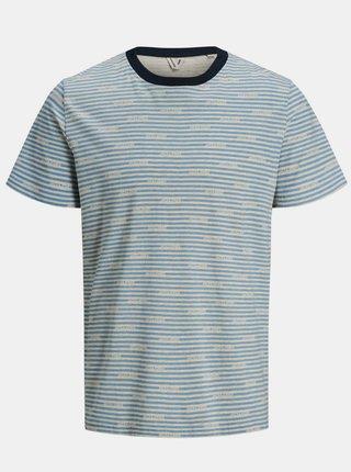 Modré vzorované tričko Jack & Jones Miks