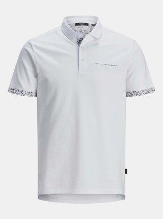 Bílé polo tričko Jack & Jones James