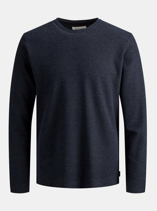 Tmavomodrý basic sveter Jack & Jones Dylan
