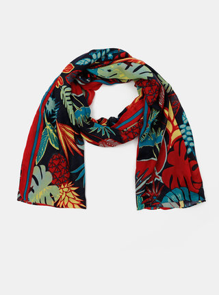 Červeno-modrý květovaný šátek Pieces Namara