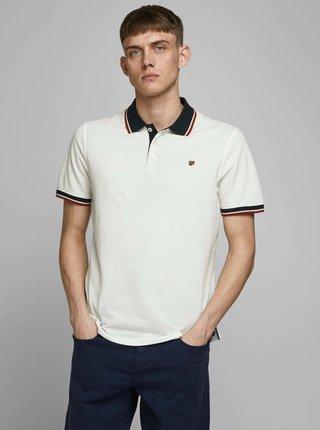 Bílé polo tričko Jack & Jones Bluwin