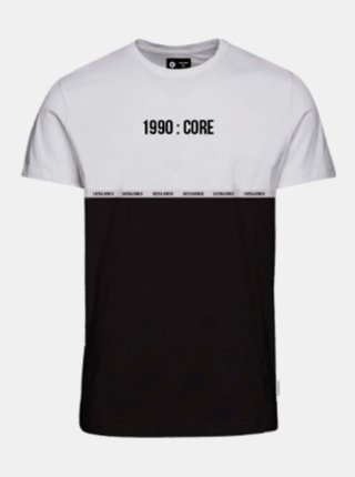 Bielo-čierne tričko Jack & Jones Block