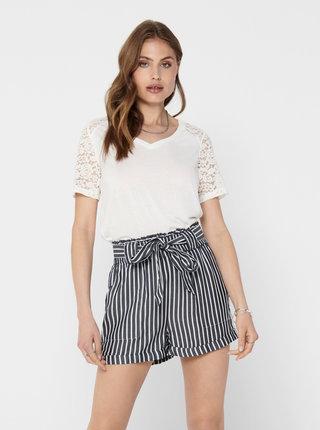 Bílé tričko s krajkou Jacqueline de Yong Stinne