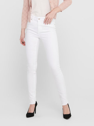 Biele skinny fit rifle ONLY Blush
