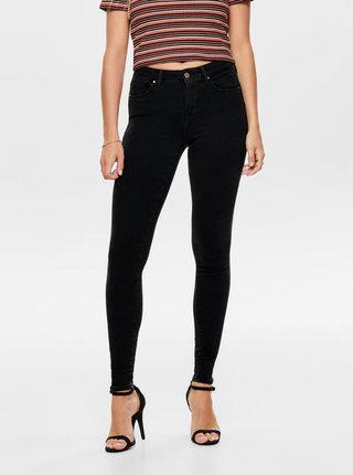 Černé push up skinny fit džíny ONLY Power
