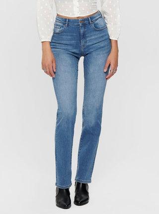 Modré straight fit džíny ONLY Nahla