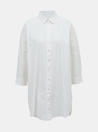 Bílá dlouhá košile Selected Femme Ami