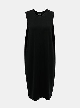 Černé midišaty Selected Femme Lola
