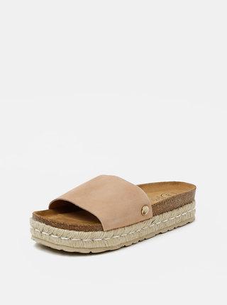 Světle růžové dámské semišové pantofle OJJU