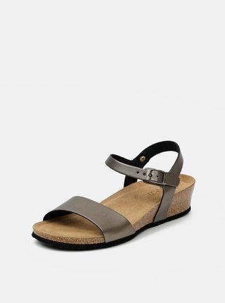 Šedohnedé dámske sandálky OJJU