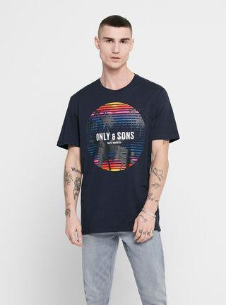 Tmavomodré tričko ONLY & SONS Kuba