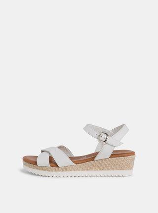 Biele sandálky na platforme Tamaris