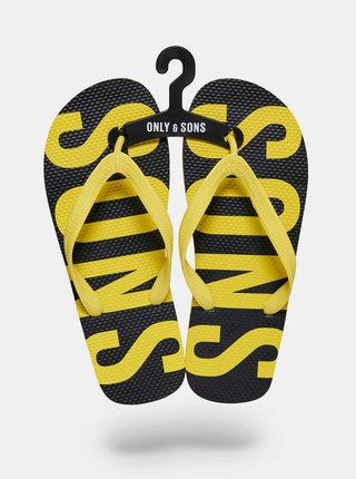 Černo-žluté žabky ONLY & SONS