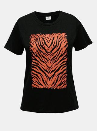 Černé tričko s potiskem Jacqueline de Yong Diana