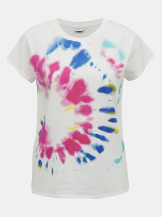 Biele tričko s potlačou Jacqueline de Yong Fidela