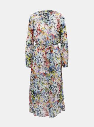 Modro-bílé květované maxišaty Jacqueline de Yong Trevina