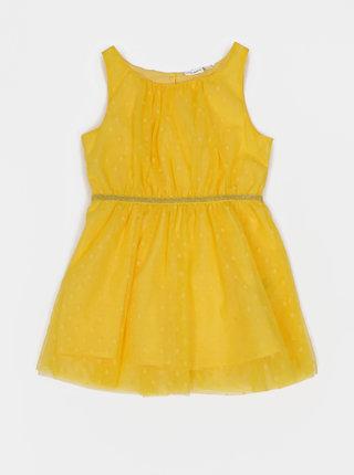 Žluté holčičí tylové puntíkované šaty name it Vabossa