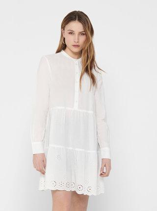 Biele šaty ONLY Amabel