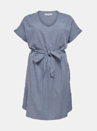 Modré pruhované šaty ONLY CARMAKOMA Isa