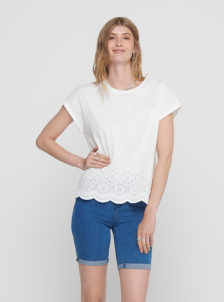 Bílé tričko ONLY Cosma