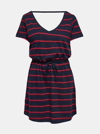 Tmavě modré pruhované basic šaty ONLY May