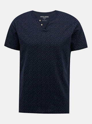 Tmavě modré vzorované tričko Jack & Jones Jackson