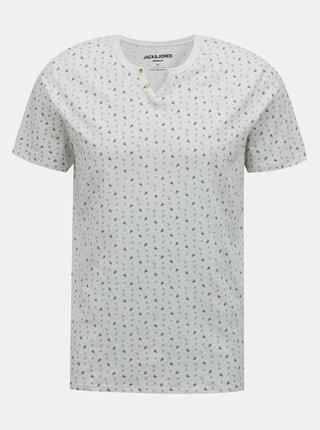 Biele vzorované tričko Jack & Jones Jackson