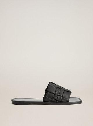 Černé pantofle Mango Nevada