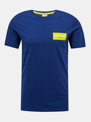 Modré tričko Jack & Jones Waka