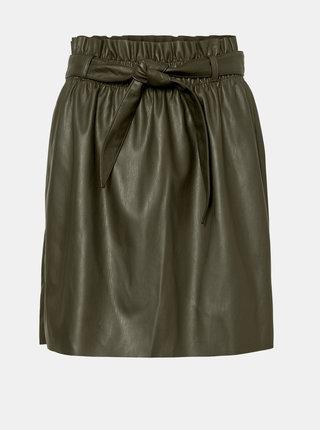 Khaki koženková sukně VERO MODA Award