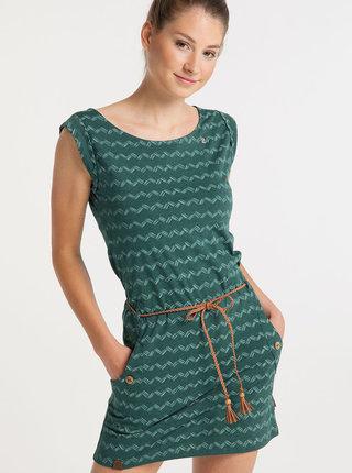 Zelené vzorované šaty Ragwear Tag Zig Zag
