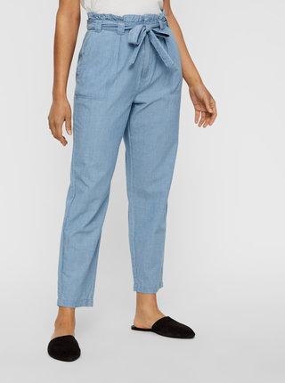 Světle modré kalhoty VERO MODA Emily