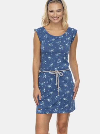 Modré květované šaty Ragwear Tamy