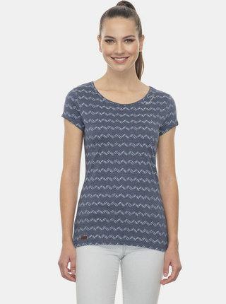 Tmavě modré dámské vzorované tričko Ragwear Zig Zag
