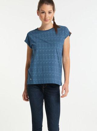 Modré dámské vzorované tričko Ragwear Dione