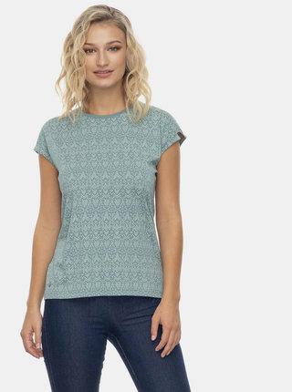 Zelené dámské vzorované tričko Ragwear Dione