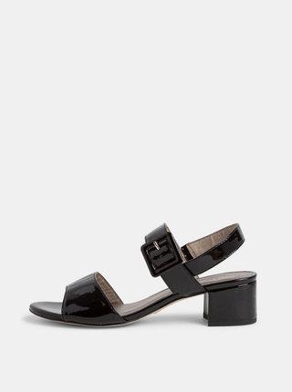 Čierne lesklé sandálky Tamaris