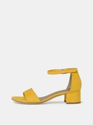 Žlté sandálky v semišovej úprave Tamaris