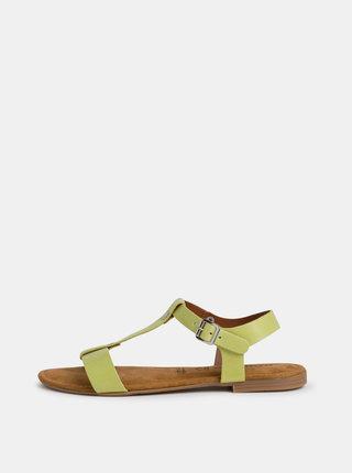 Zelené kožené sandály Tamaris