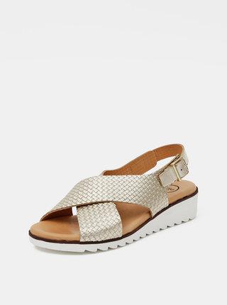Kožené sandálky ve zlaté barvě OJJU