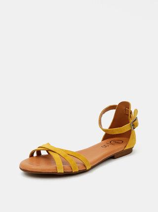 Žluté semišové sandály OJJU