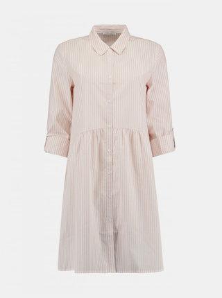 Světle růžové pruhované košilové šaty Haily´s Lykka