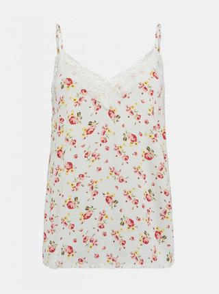 Bílý květovaný top Haily´s Salina