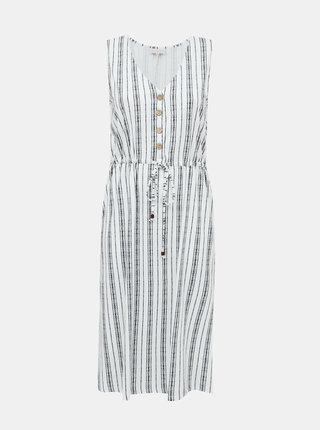Bílo-modré pruhované šaty ONLY CARMAKOMA Adele
