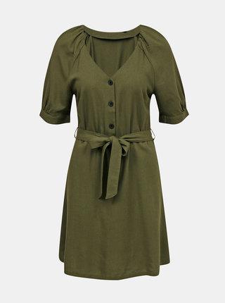 Zelené ľanové šaty VERO MODA Day