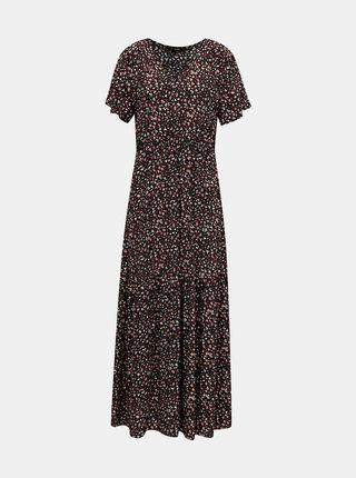 Čierne kvetované maxišaty VERO MODA Dorianne