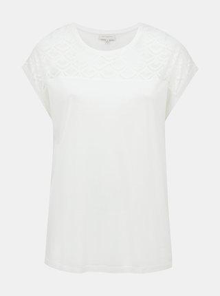 Bílé tričko ONLY CARMAKOMA Flake