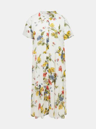 Bílé květované košilové šaty ONLY CARMAKOMA Spirit