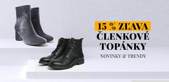 15 % zľava na členkové topánky